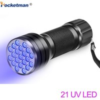 Flashlights Torches UV 21LED 12LED Light 395-400nm LED Linterna Torch Ultraviolet Black Lamp