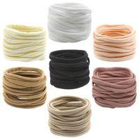 Disponibile neonate in nylon fasce per capelli fascia per capelli per bambini Hairband nylon elasticizzato elasticizzato fasce sfuse morbide sottili 130 y2
