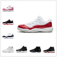 [Box 포함]  AIR JORDAN 11 RETRO LOW GS shoes 25 주년 기념 Bred Concord 45 공간 잼 남성 농구 신발 인디고 게임 로얄 리버스 게임 망 여성 스포츠 스니커즈