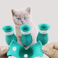 Cats Grooming Anti-Scratch Boots Silicone Cat Shoes Paw Protector Nail Cover for Bathing Barbering Checking Injecting 881 B3