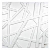 Art3D 50x50cm Branco 3d Plástico Painéis de Parede Adesivos Apropressação Linhas de Cruzamento Geométricas para Sala de Estar Quarto Televisão Fundo (pacote de 12 telhas 32 sq ft)