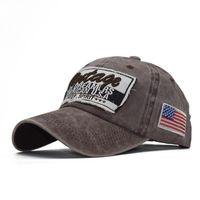 2021 Moda Trend Büyük Harfler İşlemeli Yüksek dereceli Saf Pamuklu Yıkanmış Eski Kaplama Beyzbol Şapkası 11