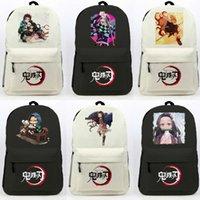 Backpack Demon Slayer Kimetsu No Yaiba Kamado Tanjirou Nezuko Cosplay School Shoulder Bag Teentage Laptop Travel Rucksack Gift