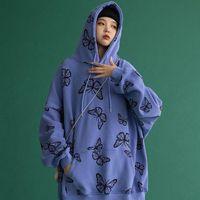 Women's Hoodies & Sweatshirts 2021 Fashion Autumn Women Long Sleeve Female Oversize Tops Casual Loose Hip Hop Harajuku Hooded Clothes