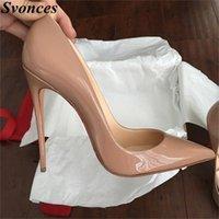 Mesdames Designer Chaussures Femmes So Nice Kate 12cm / 10cm Cuir Pattent Noir Heels Nu Cheaux Pigalle Mode Chaussures De Mariage Femmes Pompes 210310