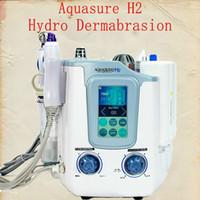 Aquasure H2 3 в 1 Hydro MicrodermaBrasion Гидрофабрикальная глубокая очистка Био Микротоковая машина для ухода за лицом Hydro