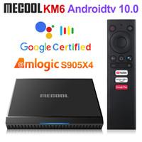 Mecool KM6 Google Certifié Android 10 TV Box 2GB 16GB AMLOGIC S905X4 Télécommande vocale 2.4G WIFI 100M BT4.2 SET TOP BOX