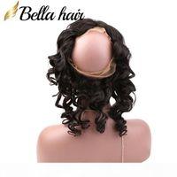 "Virgen Brasileño Pelo humano 360 Frontals de encaje 22x4x2 ""Ola suelta 100% Remy Human Hair Weaves Tejido Color natural Bellahair"