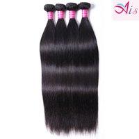 4PCS Unprocessed 10A Brazilian Indian Malaysian Peruvian Hair 4 Bundles Straight Hair Weaves Machine Made Human Hair Natural Straight