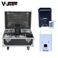 V-show 8pcs avec boîtier Batterie sans fil DMX WiFi DMX Remote LED Mariage Uplight UPLight 6x18W RGBWA UV 6IN1 Par DJ Disco Stage