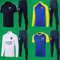 20 21 21 Boca Juniors Tracksuit Tuta da uomo Soccer Suit Seletti a manica completa Abiti da calcio 2021 Felpa e Pantaloni De Rossi Tevez Set