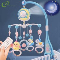 Baby Rattl Crib Mobil Toy Holder Rotating Mobile Bed Bell Musical Box Projection 0-12 Months Newborn Infant Toys