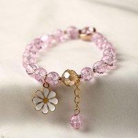 Charm Bracelets 1pcs Bohemian Style Crystal Rhinestones Beads Adjustable Bangle For Women Girl Jewelry Ornament
