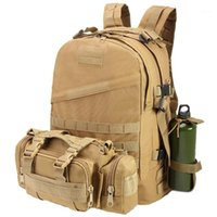 Bolsas al aire libre Mochila táctica Camping Senderismo Viaje Caza Deporte Gran capacidad Impermeable Camuflaje Nylon Ejército Bag1