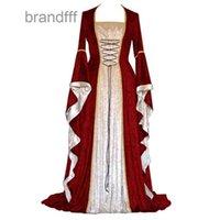 Mulheres férias vestido vestido medieval judio de diamante de diamante remédio com grande chifre flanela de manga