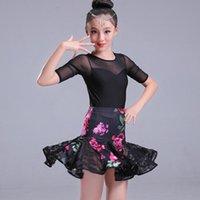 Stage Wear Girl Latin Dance Dress For Girls Lace Salsa Tango Skirt Ballroom Dancing Child Competition Dancewear Kids Costumes