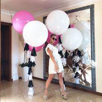 5/10/18 / 36 дюймов розовый белый гигантский латекс Baloon Air Wedding Balloon Wedding Helium Balloons с днем рождения баллоны партии Accessorie