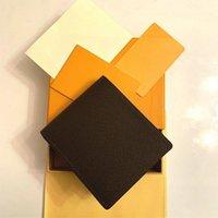 2021 جديد جودة عالية l billfold محفظة باريس منقوشة نمط المصممين رجل محفظة الرجال الشهيرة الفاخرة محفظة proteck قماش متعددة قصيرة bifold محفظة مع مربع