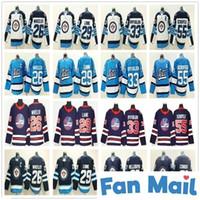 2020 새로운 헤리티지 클래식 Winnipeg Jets Hockey 26 블레이크 휠러 37 Hellebuyck 55 Mark Scheifele 81 Kyle Connor 29 Patrik Laine Ice Jerseys