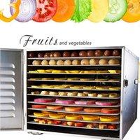10 Лоток Пищевой дегидратор Сушилка для сушки Фрукты Сушилка для овощей Высушенные фрукты Мясная Сушилка Машина Нержавеющая кухня Оборудование