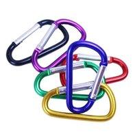 Fournitures de la fête Bague de mousqueton Bague porte-clés Chaînes de Sports de plein air Sports Snap Clip Crochet Keychain en aluminium Métal Randonnée pratique HWA8483