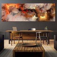 CNPainting Wall Art Picture Lámina Impresión Abstracta Paisaje Pintura Fuego Nube Cartel Poster Impresiones Sala de estar Decoración de la casa Sin marco