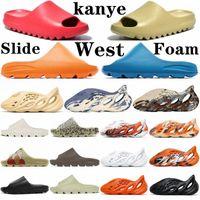 Kanye Sandalet Slaytlar Terlik Kemik Reçine Çöl Kum Köpük Koşucu Ararat Kauçuk Batı Moda Yaz Sezonu 6 Kahverengi Düz Erkekler Erkek Kadınlar CB52G #