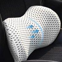 Seat Cushions Car Headrest Neck Pillow Support Universal Soft Pillows Cushion Memory Foam Lumbar Back Travel Accessories
