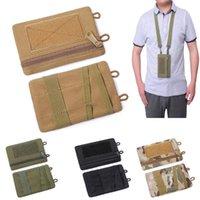 Card Holders Men's Holder With Adjustable Lanyard Portable Nylon Coin Purse Bank Wallet Case Wallets Key Bag Cardholder