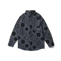 Trendy Hip Hop West Coast Anacardio anacardio stampato uomo manica lunga maglia a manica lunga Street Street Shirt Stampa