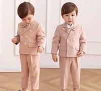 Clothing Sets Little Prince Baby Boys Jacket+Pants Bowtie 3pcs Wedding Suit Gentleman Kids Birthday Dress Children Party Costume