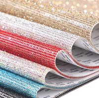 Party Supplies 20*24cm DIY colorful Rhinestone Sticker Sheet Self-Adhesive Crystal Ribbon with Gum Diamond Sticks Decoration Cars Phone Cases Cups SN2449