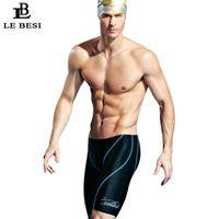 Two-piece Suits 2021 LEBESI Professional Men Swimming Trunks Double Sided Waterproof Fifth Pants Swimwear Men's Swimsuits S-3XL Bathing Suit