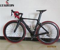 Leadxus GAM180 Fibra de carbono Complete Bike Carbon Road Biciclet Frame + Dimple Wheels + Carbon Manillar / Saddle + R8000 Groupset