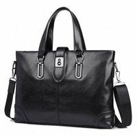Men Business Bags Fashion Leather Handbags Mens Messenger Shoulder Bags Briefcases 21Au#