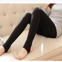 Women's Pants & Capris JUJULAND 2021 Free Drop Women Sexy Black Thick Silk Stockings Leggings Slim Shiny Plus Size