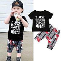 Clothing Sets Infant Baby Boy Kids Shirt Top Vest +Guitar Print Pants Outfit Clothes Set