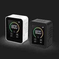 Analisadores de gás Conteúdo de concentração de Detector de CO2 TFT TFT Smart Air Tester com Analisador de Qualidade de Umidade de Temperatura