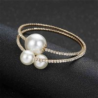 Korean daily simple multi-layer Diamond Pearl Elastic Ring Network red personality trend Bracelet