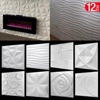 Wall Stickers 12 Pcs Decorative 3D Panels In Diamond Design MaWhite Wallpaper Mural Tile-Panel-Mold Bathroom Kitchen