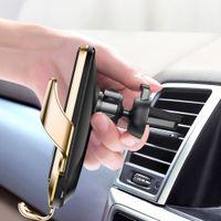 A5S Araba Kablosuz Şarj Tutucu Otomatik Akıllı Sensör Araba Telefonu Tutucu Kablosuz Şarj Telefonu Araba Tutucu Mobil Standı Dağı DHL Ücretsiz