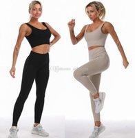 Womens Yoga Suit Gym Sportswear Tracksuits Fitness Sport two Piece set 2PCS bra Leggings outfits Active tech fleece workout sets Yogaworld Fashion Designer suits