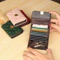 Wallets WERICHEST Sheepski Leather Women Accordion Design Card Holder High Quality Female Purse Porte Feuille Femme