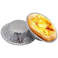 Folha de alumínio Ovo Tart Pan Deixada Copos de cozimento Circular Caixa Currular Caixa Mini Pot Pie Mold Pastelaria Ferramentas JK2007KD