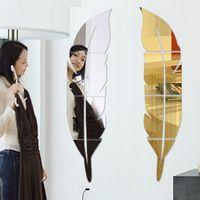 3D Tüy Ayna Duvar Sticker Odası Çıkartması Duvar Sanatı Ev Dekorasyon DIY 73 * 18 cm 505 v2