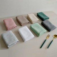 Стол салфетка 4шт хлопчатобумажные салфетки кухня вафля чайное полотенце абсорбирующее блюдо чистящие полотенца коктейль для свадьбы