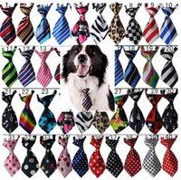 100pc / lote venta de fábrica nueva colorido hecho a mano ajustable 100pcs / lote nueva llegada perro mascota corbatas bowtie al por mayor mezcla 30-40 patrones p01