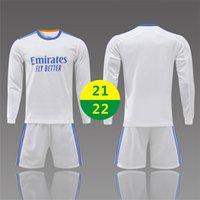 EE.UU. FAST 21 22 Home Jersey Soccer Wear Adulto Blanco Traje de manga larga Traje de entrenamiento 2021 Hombres Sportswear Kids Football Shirts Uniformes 2022 con logo # HMZ-21A1