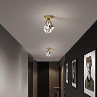 Простые современные Crystal потолочные огни гостиной для четвертого коридора светодиодные украшения для дома творческая светящаяся личность Юве