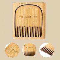 Hair Brushes 1 Pcs Natural Peach Wood Comb Close Teeth Anti-static Head Massage Beard Care Wooden Tools Beauty Accessories